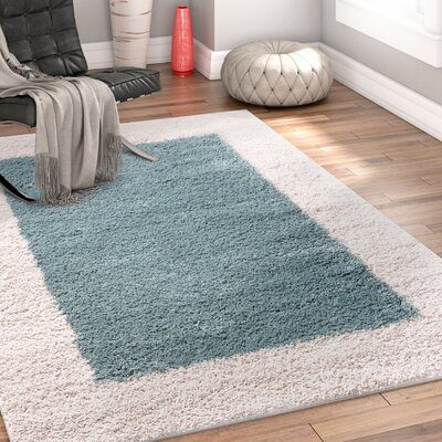 Dondre Light Blue Indoor Area Rug Rug Size: 33 x 53