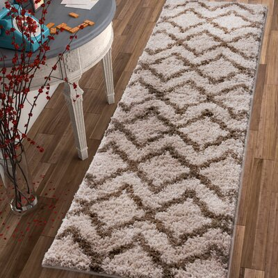 Walraven Beige/Brown Indoor Area Rug Rug Size: Runner 2 x 73