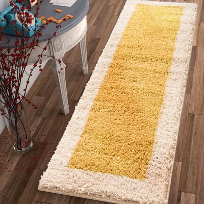 Dondre Gold Indoor Area Rug Rug Size: Runner 2' x 7'3