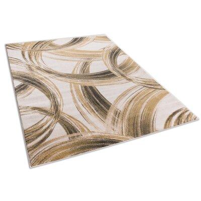 Devanna Modern Scrolls Ivory Area Rug Rug Size: 710 x 106