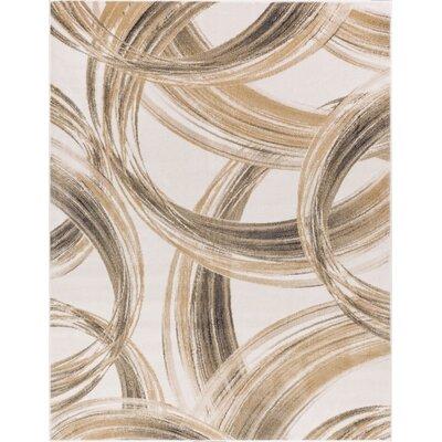 Devanna Modern Scrolls Ivory Area Rug Rug Size: 311 x 57
