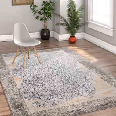 Devanna Modern Distressed Gray Area Rug Rug Size: 311 x 57