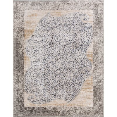 Devanna Modern Distressed Gray Area Rug Rug Size: 53 x 73