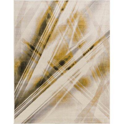 Devanna Stripes Modern Beige Area Rug Rug Size: 53 x 73