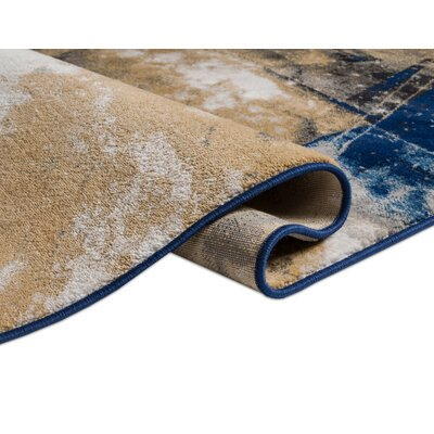 Devanna Modern Abstract Blue Area Rug Rug Size: 311 x 57