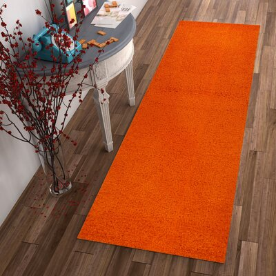 Dondre Orange Indoor Area Rug Rug Size: Runner 2 x 73