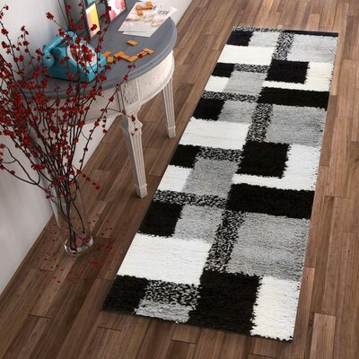 Marci Black Indoor Area Rug Rug Size: Runner 2 x 73