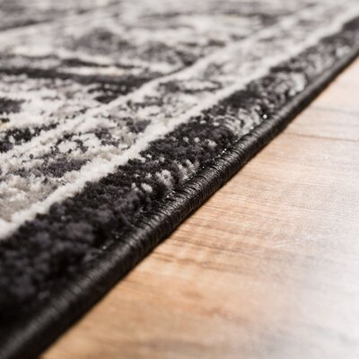 Abramowitz Charcoal Area Rug Rug Size: 23 x 311