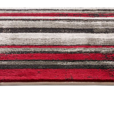 Chanell Red Area Rug Rug Size: 710 x 910