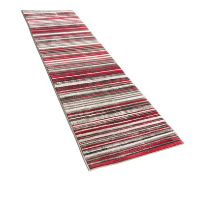 Langley Red Area Rug Rug Size: Runner 27 x 91