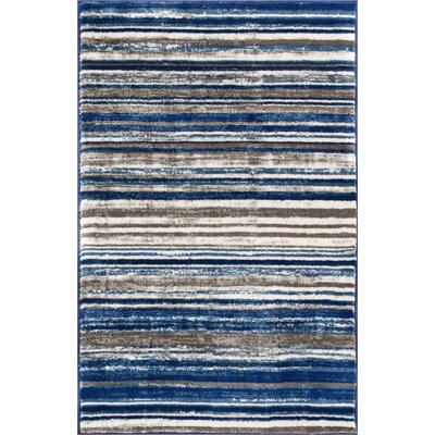 Langley Blue Area Rug Rug Size: 311 x 57