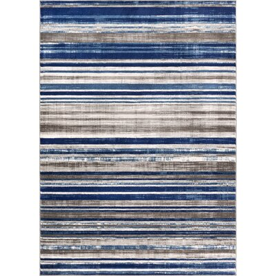 Langley Blue Area Rug Rug Size: 2'3