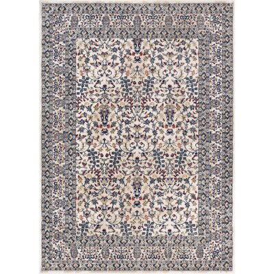 Springport Blue/Beige/Red Area Rug Rug Size: 53 x 73