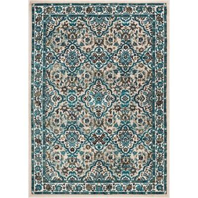 Springport Biege/Blue Area Rug Rug Size: 710 x 106