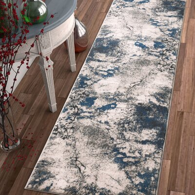 Emmi Blue/Gray Area Rug Rug Size: Runner 23 x 77