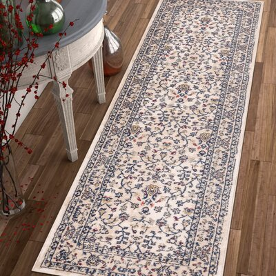Springport Blue/Beige/Red Area Rug Rug Size: Runner 23 x 77