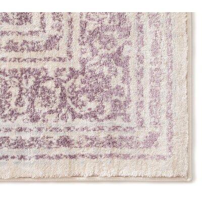 Aya Distressed Medallion Lavender/Beige Area Rug Rug Size: 710 x 106