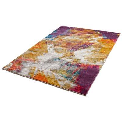 Felicienne Modern Abstract Area Rug Rug Size: 53 x 73