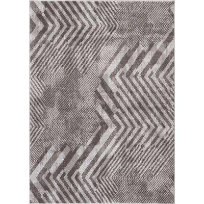 Felicienne Modern Chevron Gray Area Rug Rug Size: 710 x 106