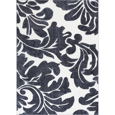 Orrville Enchanting Modern Bold Abstract Dark Gray Area Rug Rug Size: 53 x 73