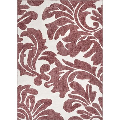 Orrville Enchanting Modern Bold Abstract Rose Area Rug Rug Size: 53 x 73