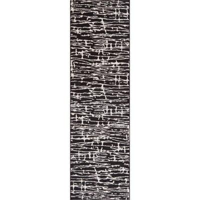 Honaye Modern Geo Lines Black/White Area Rug Rug Size: Runner 23 x 73
