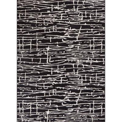 Honaye Modern Geo Lines Black/White Area Rug Rug Size: 53 x 73