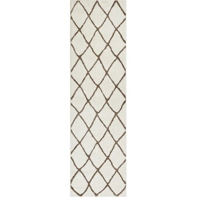 Patterson Modern Moroccan Trellis Beige/Brown Area Rug Rug Size: 53 x 73