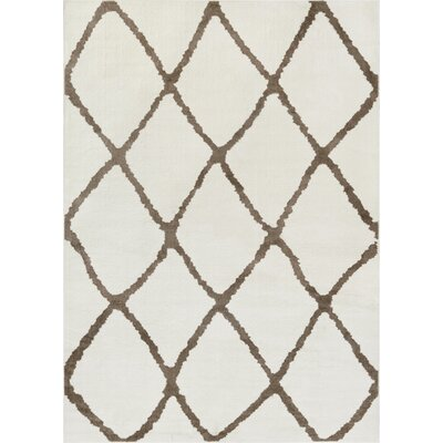 Patterson Modern Moroccan Trellis Beige/Brown Area Rug Rug Size: 710 x 910