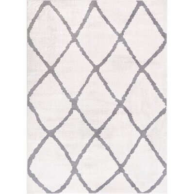 Patterson Modern Moroccan Trellis Gray Area Rug Rug Size: 7'10