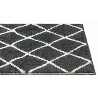 Patterson Modern Moroccan Trellis Dark Gray/White Area Rug Rug Size: Runner 23 x 73