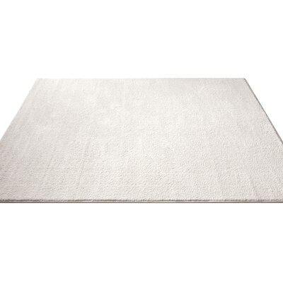 Qichen Outstanding Modern Solid White Area Rug Rug Size: Runner 23 x 73