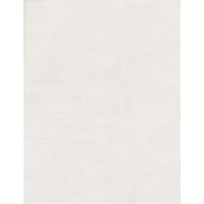 Qichen Outstanding Modern Solid White Area Rug Rug Size: 710 x 910