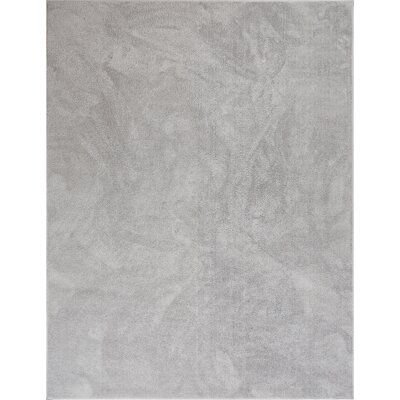 Qichen Outstanding Modern Solid Light Gray Area Rug Rug Size: 53 x 73