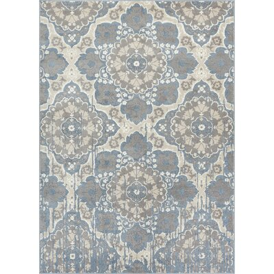 Blumenthal Soft Vintage Blue/Gray Area Rug Rug Size: Rectangle 53 x 73