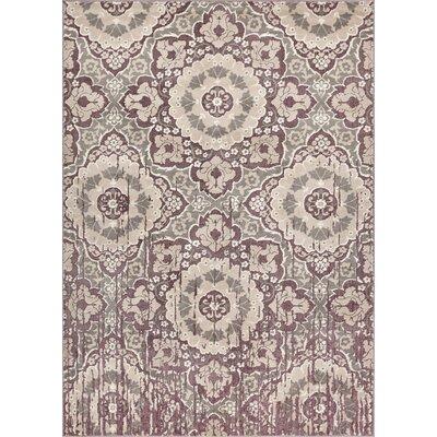 Draper Soft Vintage Lavender Area Rug Rug Size: 53 x 73