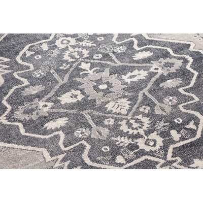 Rubio Persian Medallion Soft Vintage Dark Gray Area Rug Rug Size: 710 x 910