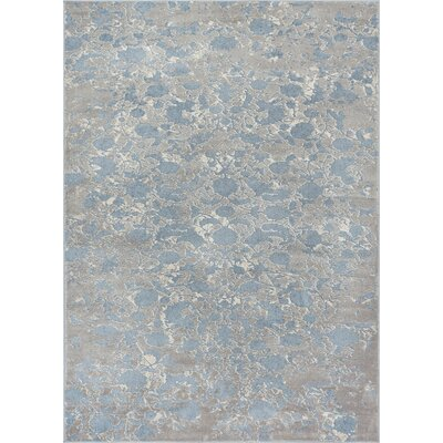 Emmett Vintage Blue/Gray Area Rug Rug Size: Rectangle 53 x 73