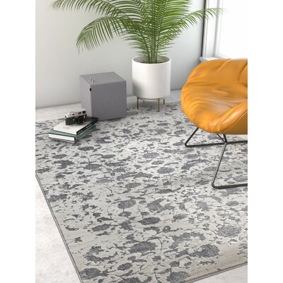 Emmett Vintage Dark Gray Area Rug Rug Size: Rectangle 23 x 311
