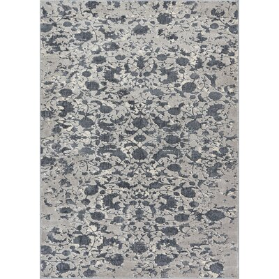 Emmett Vintage Dark Gray Area Rug Rug Size: Rectangle 53 x 73