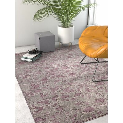 Emmett Vintage Lavender Area Rug Rug Size: Rectangle 23 x 311