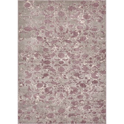 Emmett Vintage Lavender Area Rug Rug Size: Rectangle 53 x 73