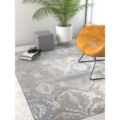 Emmett Vintage Blue/Gray Area Rug Rug Size: Rectangle 93 x 126