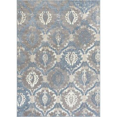 Emmett Vintage Blue/Gray Area Rug Rug Size: Rectangle 53 x 73