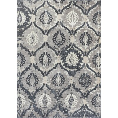 Emmett Vintage Gray Area Rug Rug Size: Rectangle 53 x 73