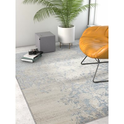 Rubio Ora Vintage Soft Oriental Blue Area Rug Rug Size: Rectangle 311 x 53