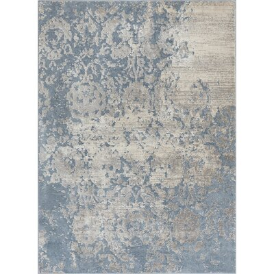 Rubio Ora Vintage Soft Oriental Blue Area Rug Rug Size: Rectangle 710 x 910