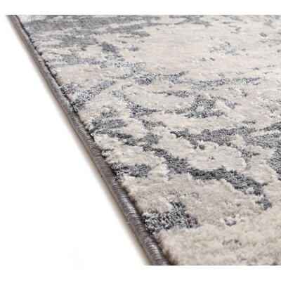 Rubio Ora Vintage Soft Oriental Dark Gray Area Rug Rug Size: Rectangle 23 x 311