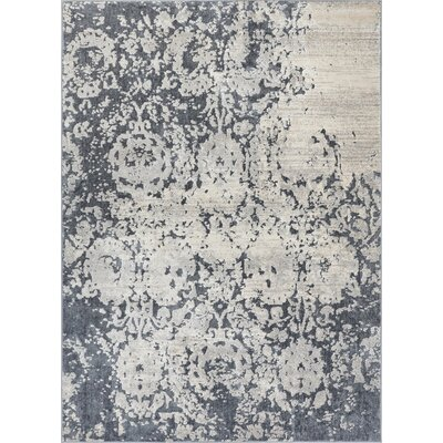 Rubio Ora Vintage Soft Oriental Dark Gray Area Rug Rug Size: Rectangle 710 x 910
