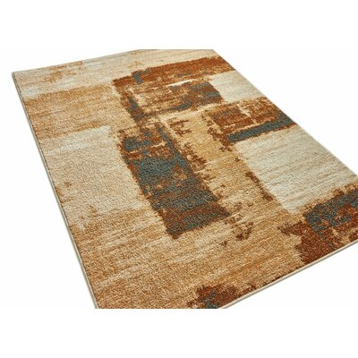 Rubino Vintage Blocks Brown Area Rug Rug Size: 710 x 910